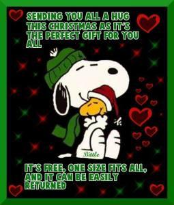 Snoopy Christmas Hugs